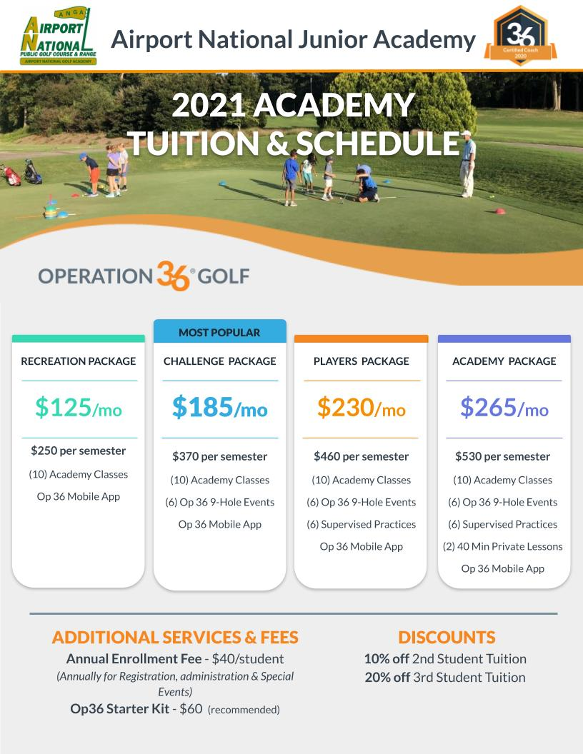 2021 Academy Tuition